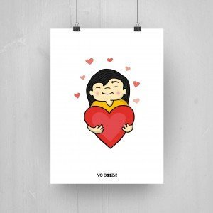 Girl Cartoon Heart Shop Yozy