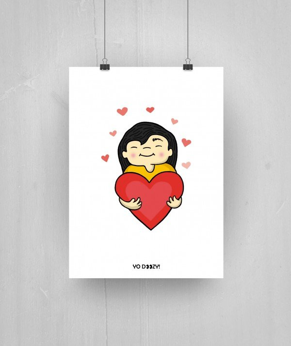 Girl Cartoon Heart Shop Yozy