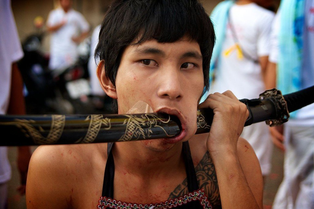 This Vegetarian Festival Of Thailand Is Totally Not For The Faint Hearted