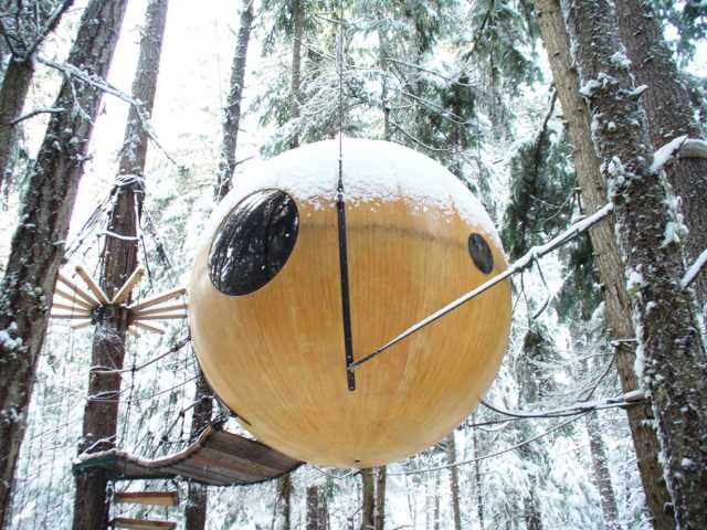 Connect With Nature While Living In A Spherical Tree House