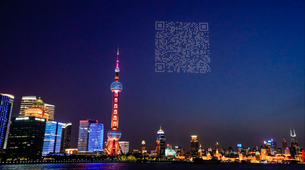 Drones Create A Scannable QR Code In The Sky!