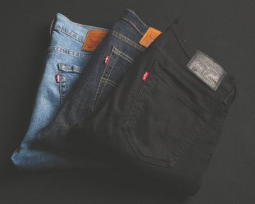 photo of three jeans